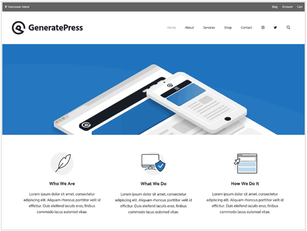 generatepress theme screenshot