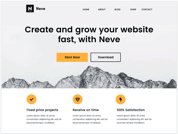 neve wordpress theme screenshot