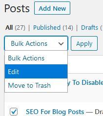 bulk edit wordpress posts